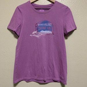 Life Is Good Purple Short Sleeve Shirt Crusher Tee